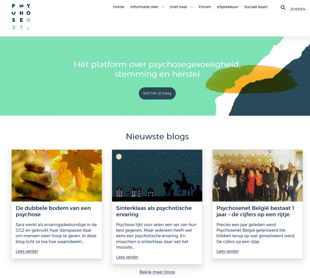 PsychoseNet België homepage